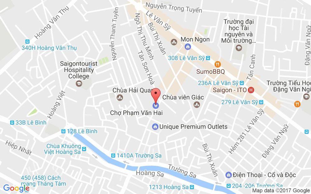 Vị trí bản đồ Chợ Phạm Văn Hai ở TP. HCM ở Bình Định