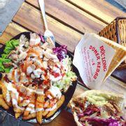 Bánh mỳ thịt và khoai tây kebab