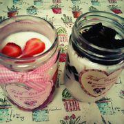 yogurt trái cây và yogurt coffee