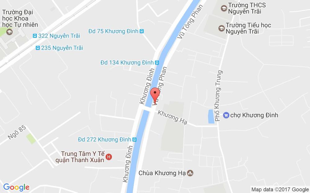 Vị trí bản đồ 145 Vũ Tông Phan Quận Thanh Xuân Hà Nội