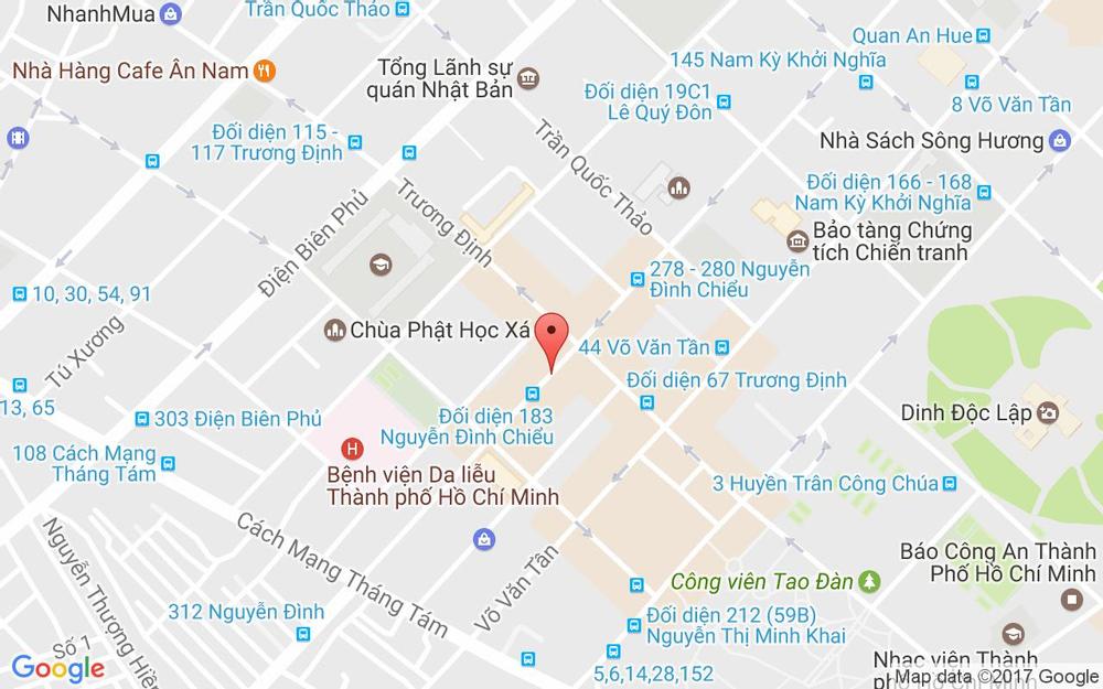 Vị trí bản đồ 123 Nguyễn Đình Chiểu, P. 6 Quận 3 TP. HCM