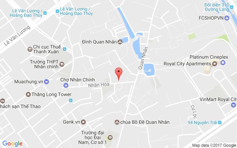 Vị trí bản đồ Ngõ 44 Nhân Hòa Quận Thanh Xuân Hà Nội