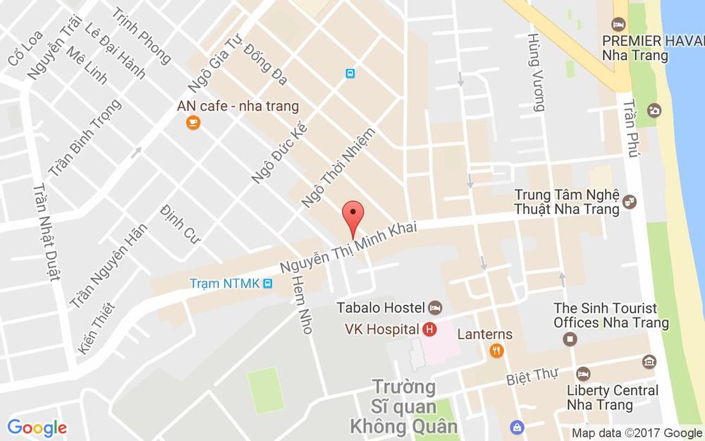 Vị trí bản đồ 54B Nguyễn Thị Minh Khai Tp. Nha Trang Khánh Hoà