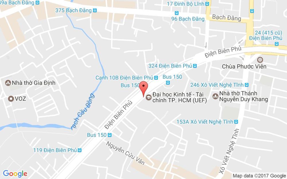 Vị trí bản đồ 286 Điện Biên Phủ, P. 17 Quận Bình Thạnh TP. HCM