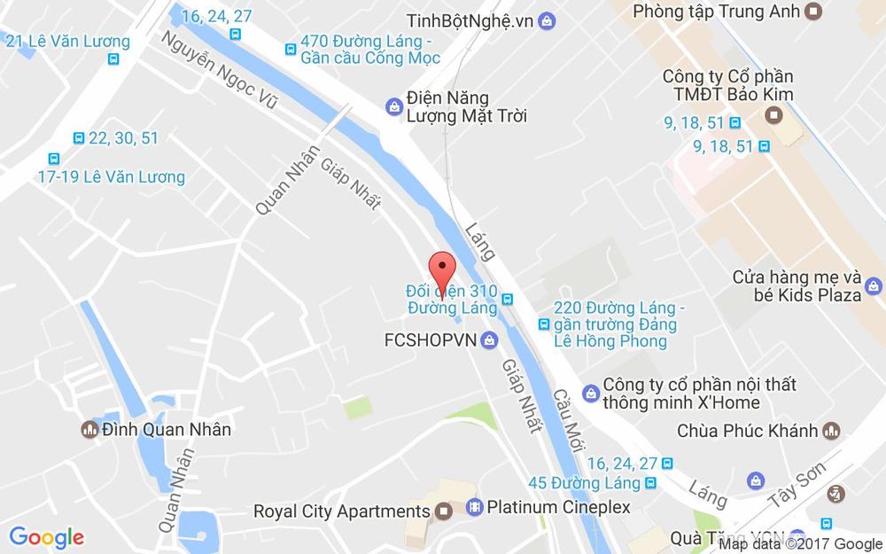 Vị trí bản đồ Giáp Nhất Quận Thanh Xuân Hà Nội