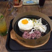 Cơm xèo bò đặc biệt + mojito kiwi