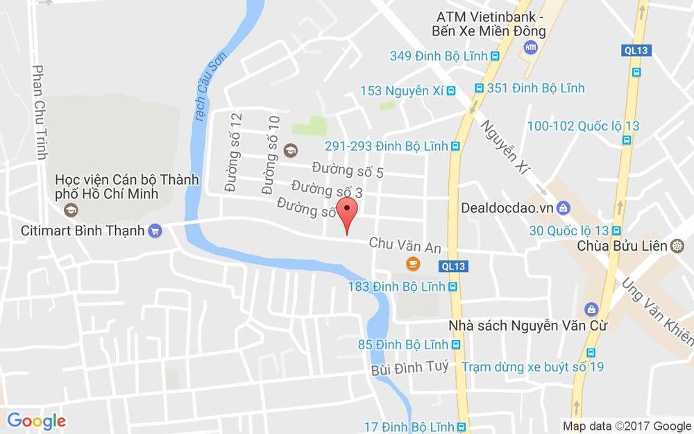 Vị trí bản đồ 139 Chu Văn An, P. 26 Quận Bình Thạnh TP. HCM