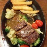 Bò bít tết sốt rau củ  quả