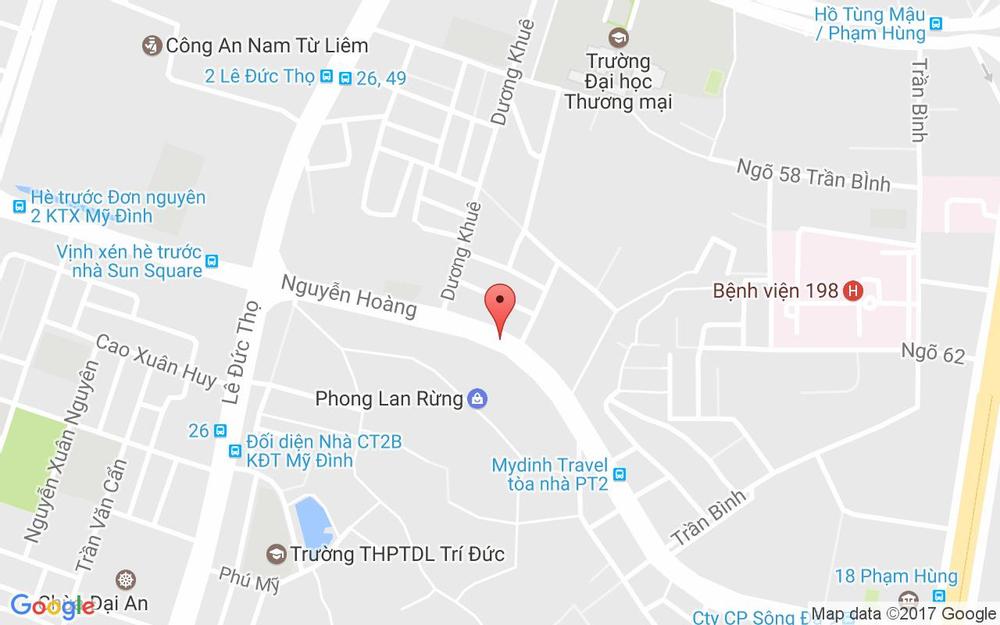 Vị trí bản đồ Hàm Nghi Kéo Dài Quận Nam Từ Liêm Hà Nội