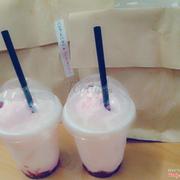 Ice cream strawberry latte 55k