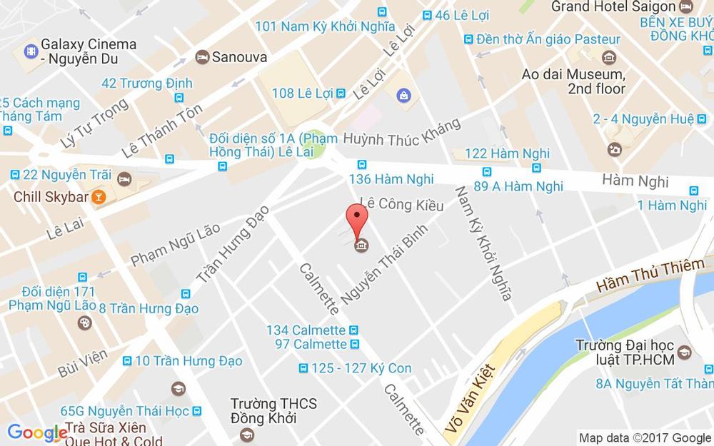 Vị trí bản đồ 97 Phó Đức Chính, P. Nguyễn Thái Bình Quận 1 TP. HCM