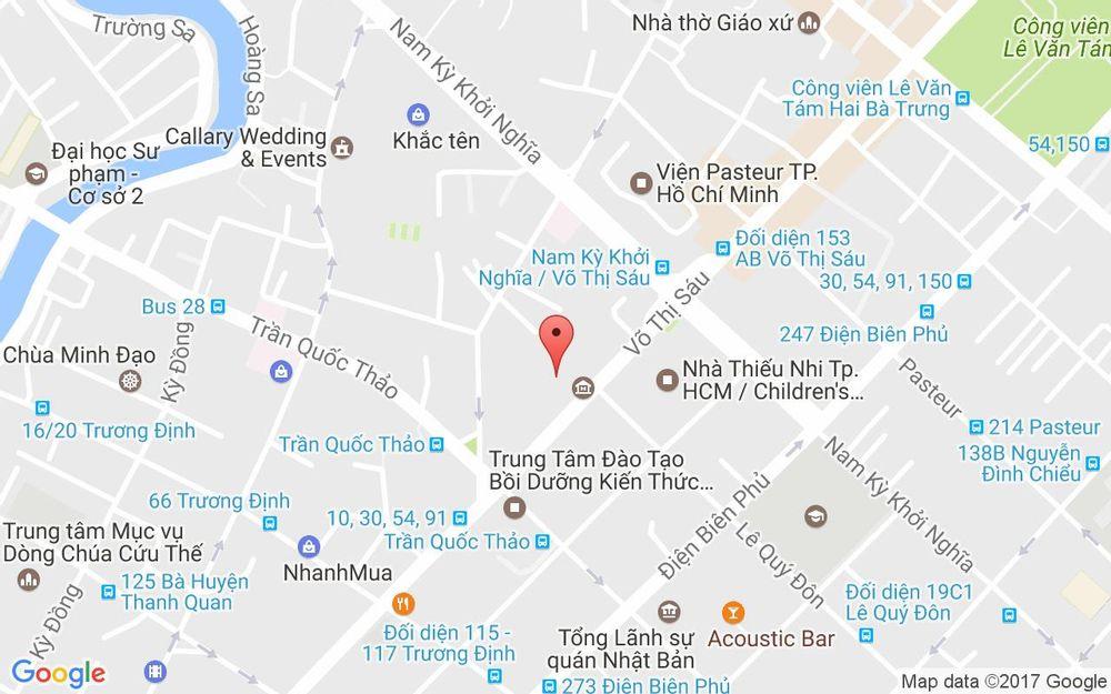 Vị trí bản đồ 202 Võ Thị Sáu, P. 7  Quận 3 TP. HCM