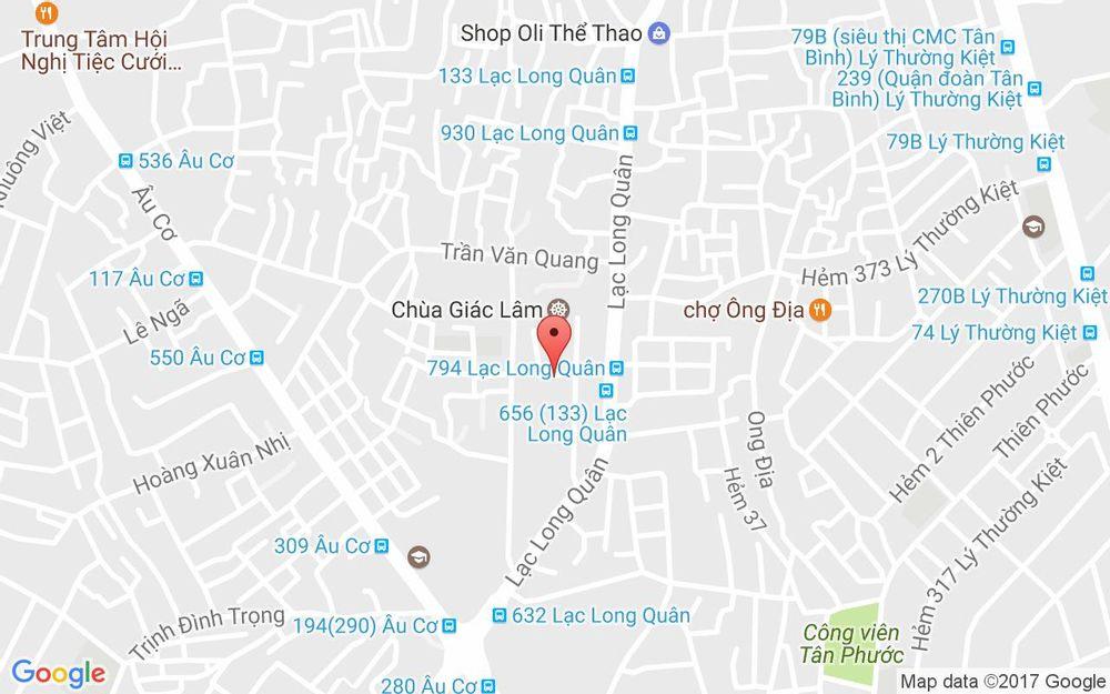 Vị trí bản đồ 565 Lạc Long Quân, P. 10 Quận Tân Bình TP. HCM