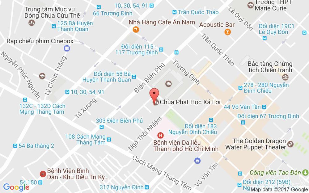 Vị trí bản đồ 89B Bà Huyện Thanh Quan, P. 7 Quận 3 TP. HCM