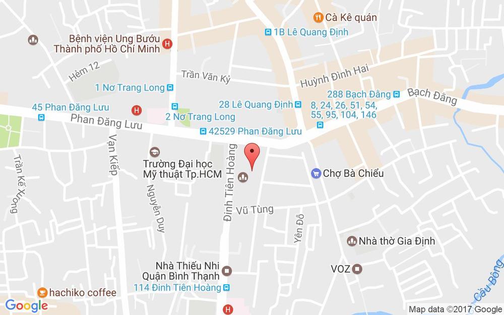 Vị trí bản đồ Vũ Tùng Quận Bình Thạnh TP. HCM