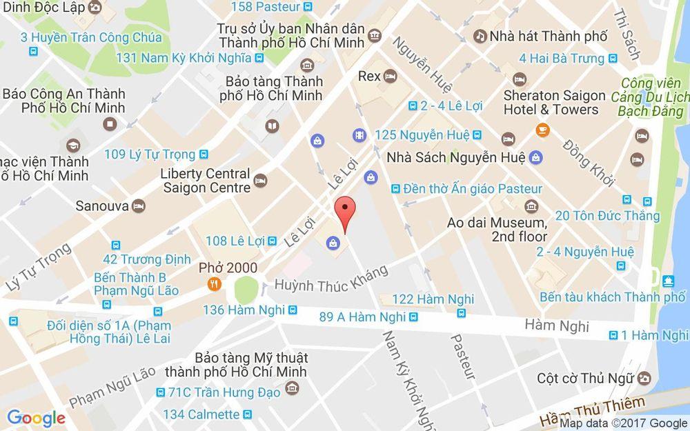 Vị trí bản đồ 77 - 89 Nam Kỳ Khởi Nghĩa, P. Bến Nghé Quận 1 TP. HCM