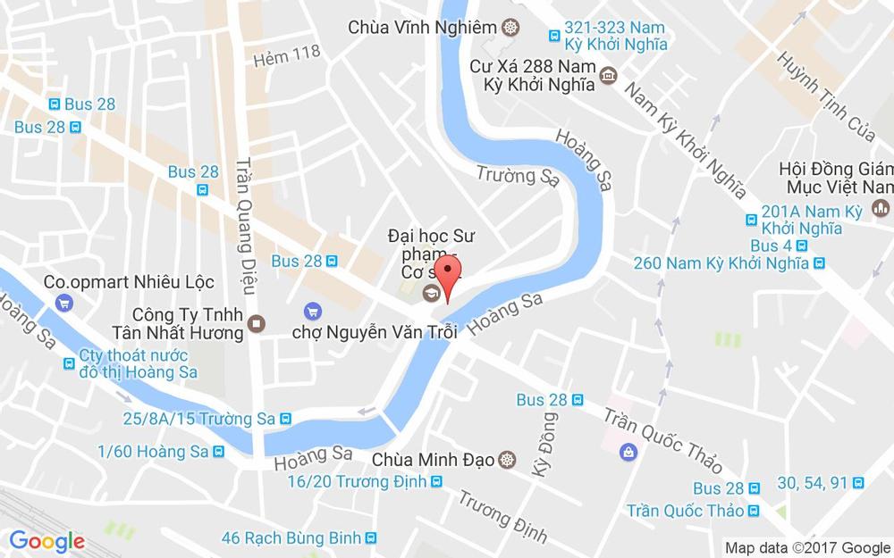 Vị trí bản đồ 220A Lê Văn Sỹ, P. 14 Quận 3 TP. HCM