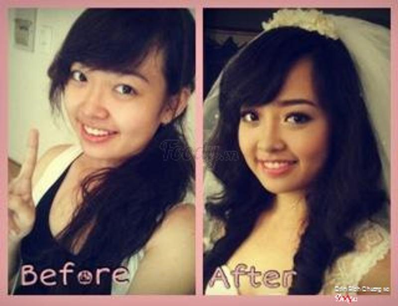 trước và sau make up