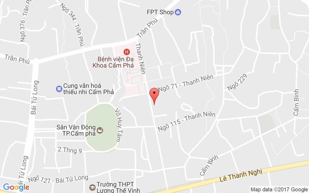 Vị trí bản đồ Thanh Niên Tp. Cẩm Phả Quảng Ninh