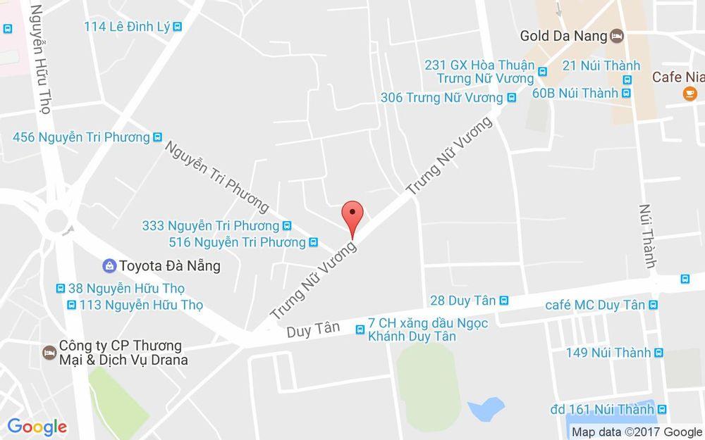 Vị trí bản đồ Tùng Vân Beauty Hair Salon - Trưng Nữ Vương ở Đà Nẵng