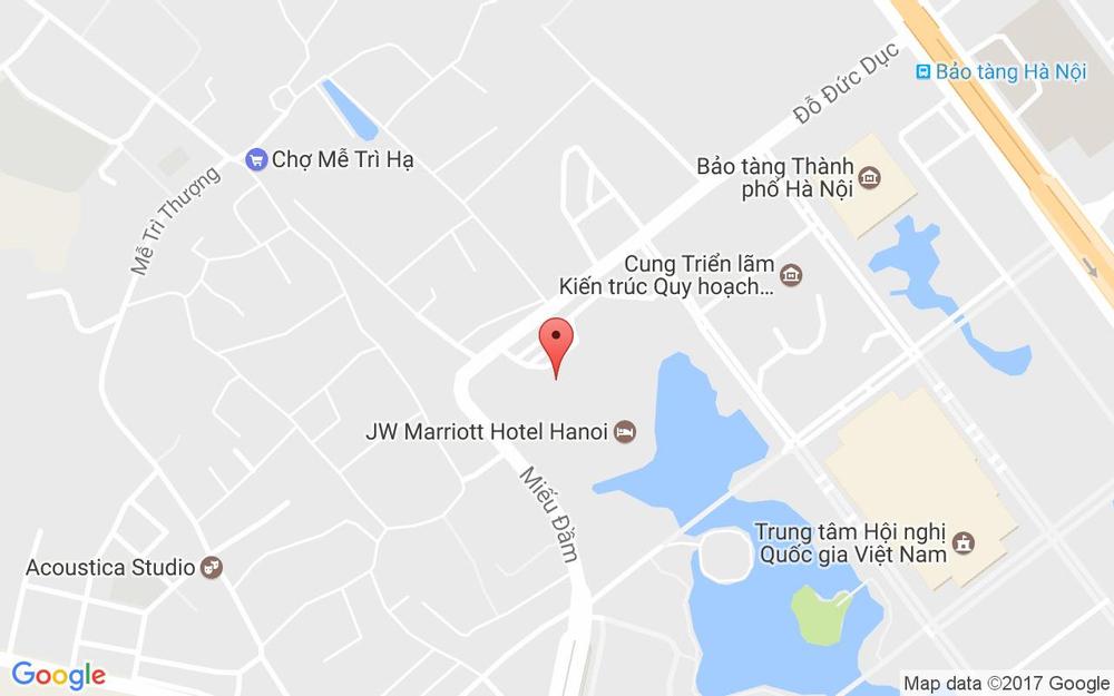 Vị trí bản đồ JW Marriott Hotel Hanoi, 8 Đỗ Đức Dục Quận Nam Từ Liêm Hà Nội