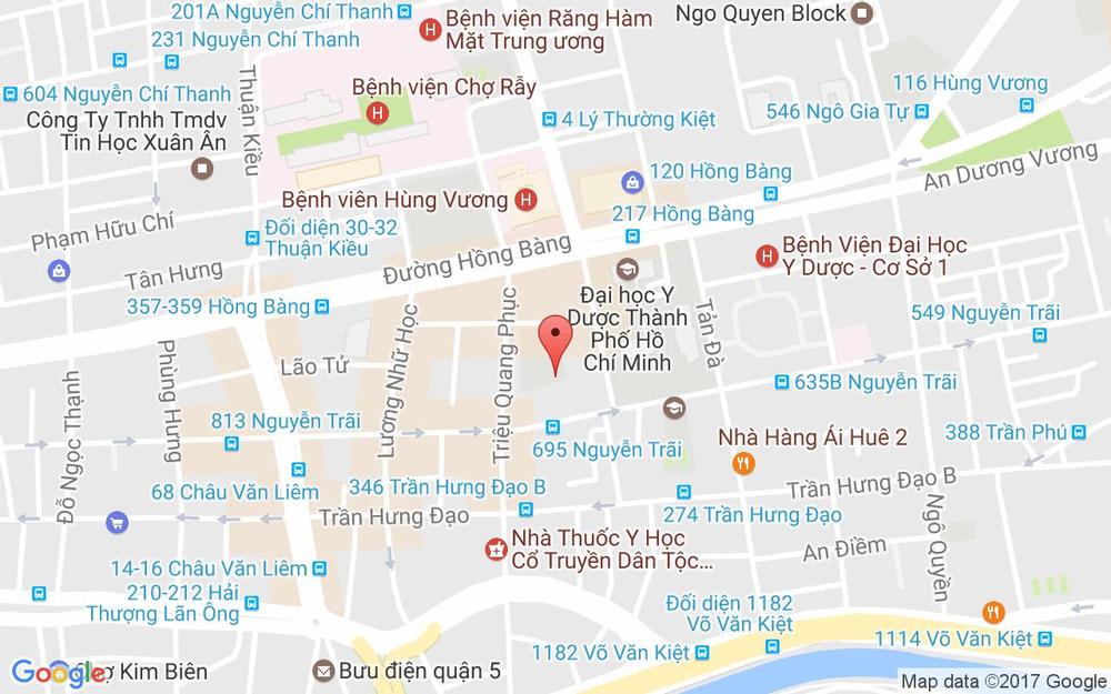 Vị trí bản đồ 676 Nguyễn Trãi, P. 11 Quận 5 TP. HCM