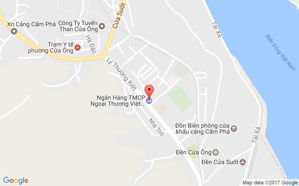 Vị trí bản đồ Lý Thường Kiệt Tp. Cẩm Phả Quảng Ninh