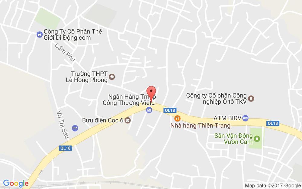 Vị trí bản đồ Trần Quốc Tảng Tp. Cẩm Phả Quảng Ninh