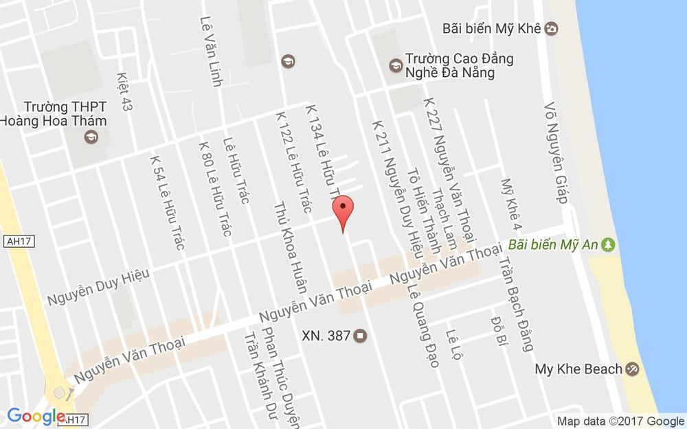 Vị trí bản đồ K184/20 Nguyễn Duy Hiệu Quận Sơn Trà Đà Nẵng