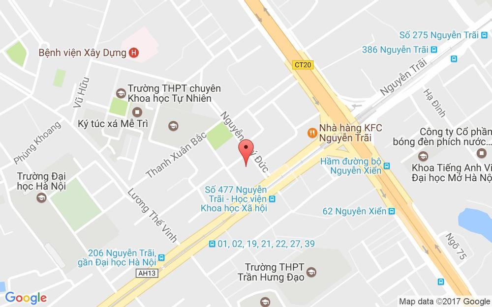 Vị trí bản đồ 3 Nguyễn Quý Đức Quận Thanh Xuân Hà Nội