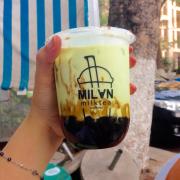 Matcha latte trân châu đường đen