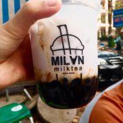 Khoai môn sữa tươi trân châu đường đen