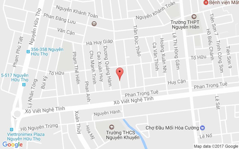 Vị trí bản đồ 215 Huỳnh Tấn Phát Quận Hải Châu Đà Nẵng