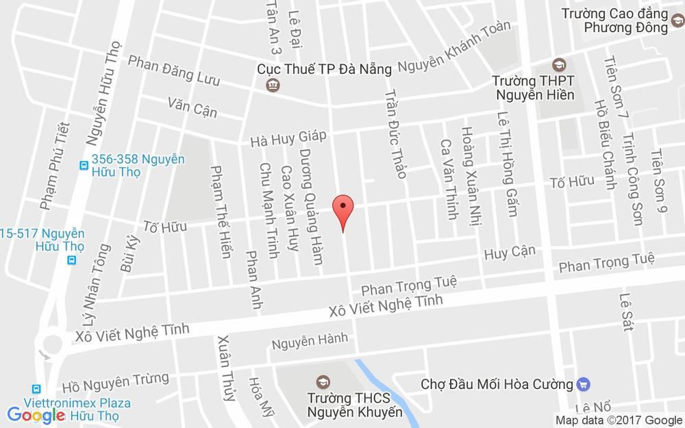 Vị trí bản đồ 191 Huỳnh Tấn Phát Quận Hải Châu Đà Nẵng