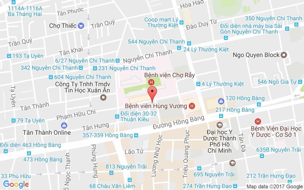 Vị trí bản đồ 265 Lương Nhữ Học, P. 12 Quận 5 TP. HCM