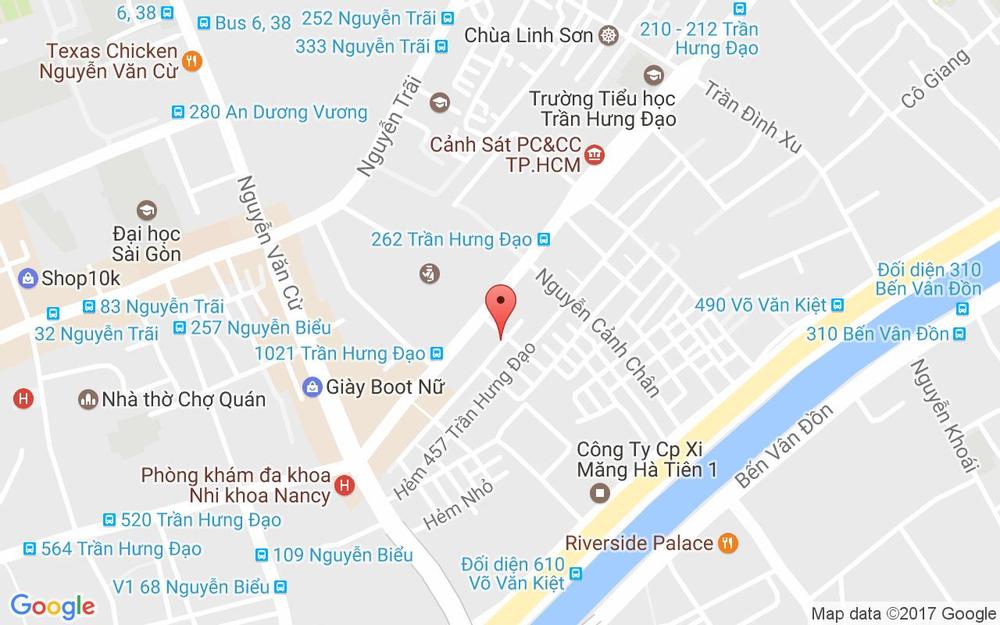 Vị trí bản đồ Mì Sườn Bò - Trần Hưng Đạo ở TP. HCM