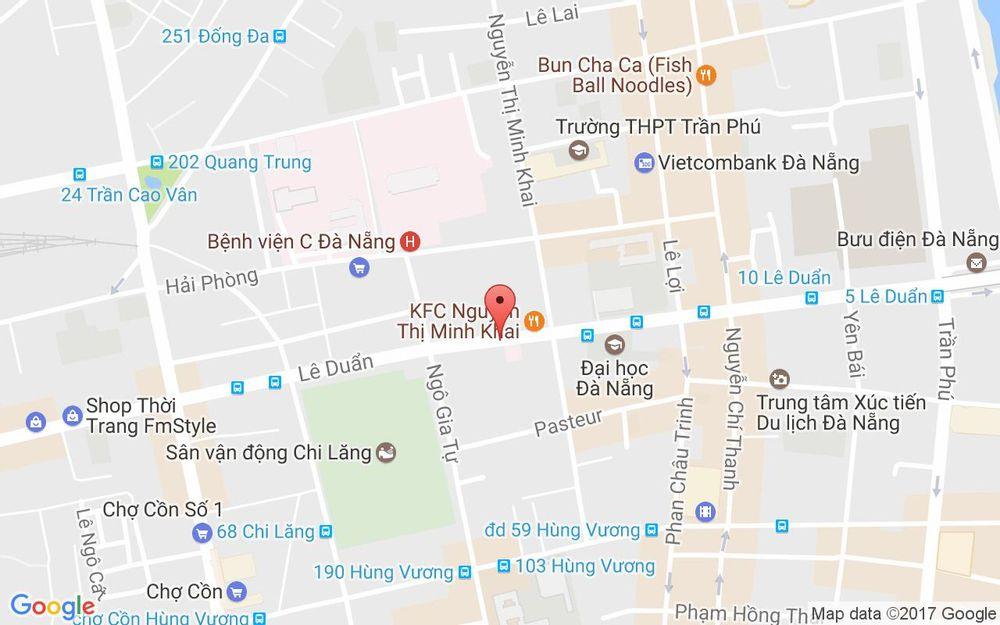 Vị trí bản đồ 53 Lê Duẩn Quận Hải Châu Đà Nẵng