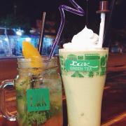 Mojito đào🍑 + trà xanh nha đam