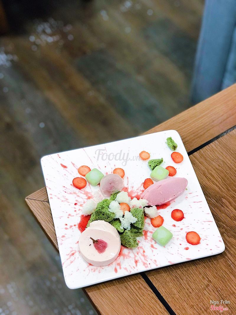 Sakura Ame Plated Dessert