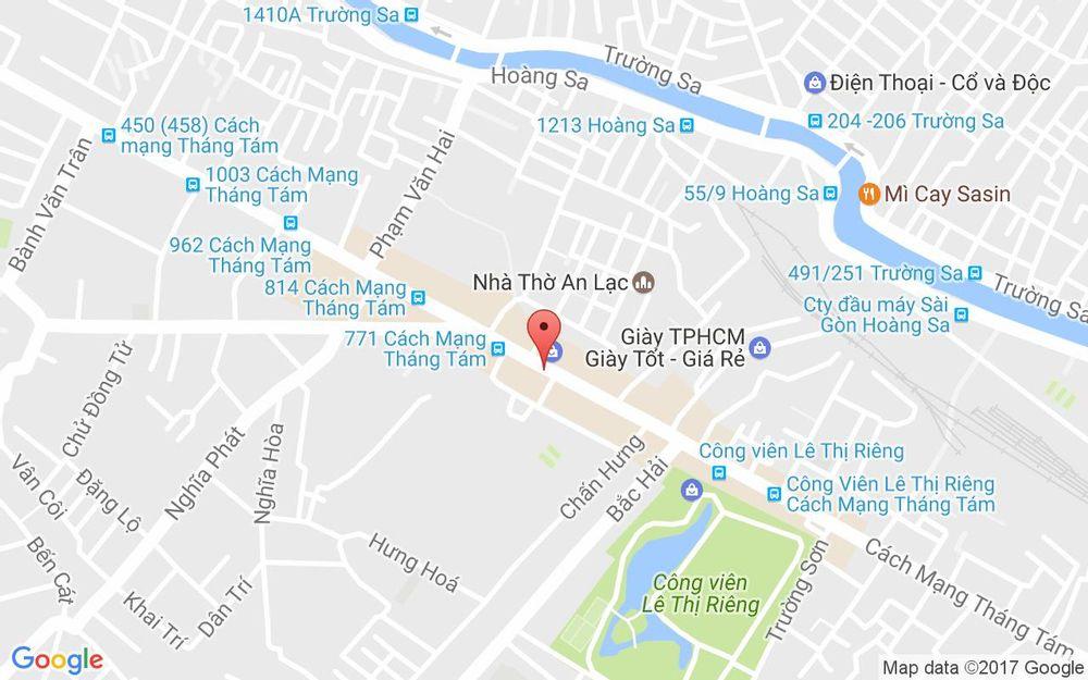 Vị trí bản đồ 741 - 743 Cách Mạng Tháng 8, P. 6 Quận Tân Bình TP. HCM
