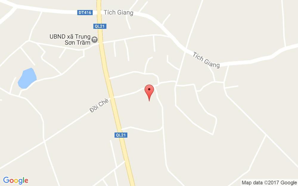 Vị trí bản đồ Trung Sơn Trầm Thị xã Sơn Tây Hà Nội