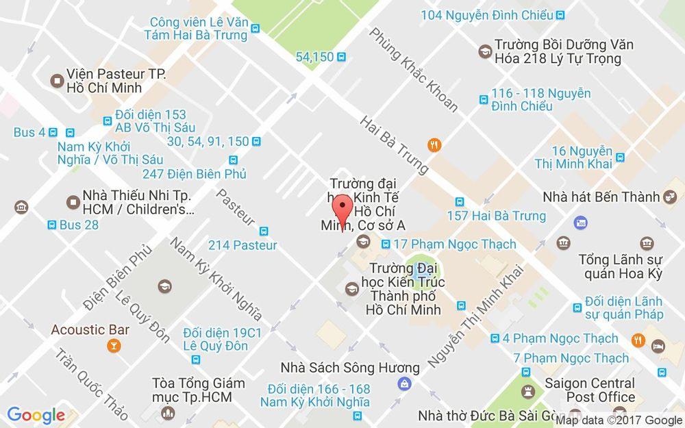 Vị trí bản đồ 136 Nguyễn Đình Chiểu, P. 6 Quận 3 TP. HCM