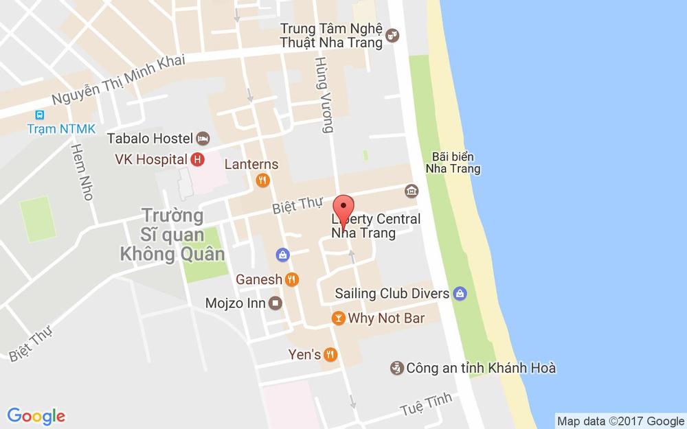 Vị trí bản đồ 77 Hùng Vương Tp. Nha Trang Khánh Hoà
