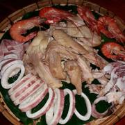 mẹt gà - hải sản thập cẩm