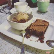 Brownie + Vanilla Ice Cream