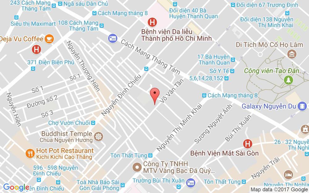 Vị trí bản đồ 214 Bis Võ Văn Tần, P.5 Quận 3 TP. HCM