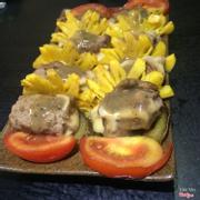 bò cuốn phô mai trúc nướng