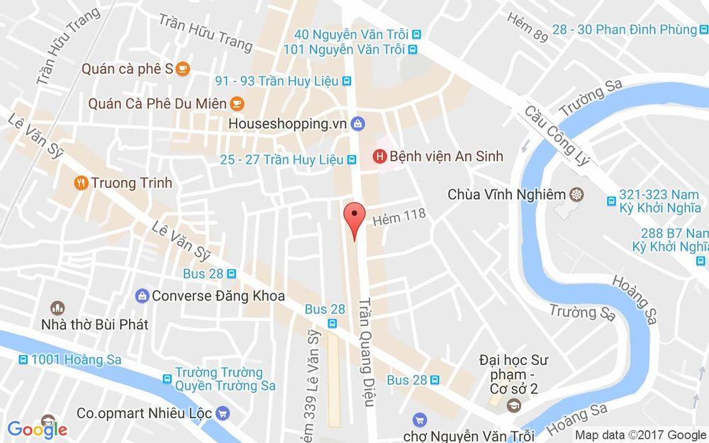 Vị trí bản đồ 61 Trần Quang Diệu Quận 3 TP. HCM