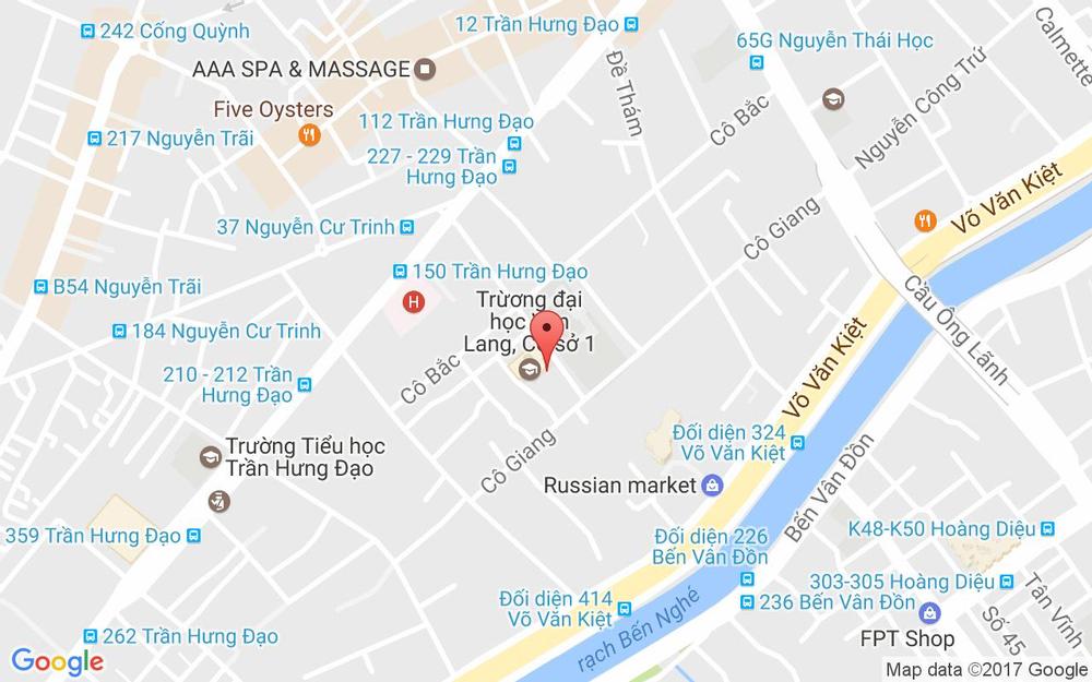 Vị trí bản đồ 25 Nguyễn Khắc Nhu, P. Cô Giang Quận 1 TP. HCM