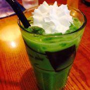 Trà xanh thái có kem